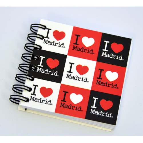 LIBRETA 7X7 MADRID I LOVE IN.