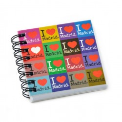 LIBRETA 7X7 MADRID I LOVE COLORES