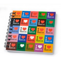 LIBRETA 15X15 MADRID I LOVE COLORES