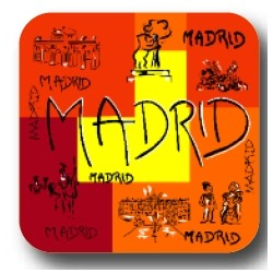 POSAVASOS MADRID TRAZOS