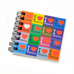 LIBRETA 7X7 VALENCIA I LOVE INDIANA COLOR