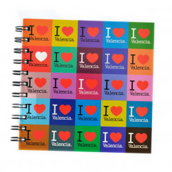 LIBRETA 15X15 VALENCIA I LOVE INDIANA COLOR