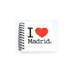 LIBRETA 15X15 MADRID I LOVE